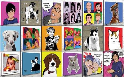 pop art portraits