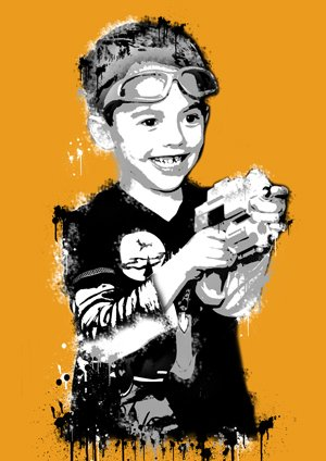Banksy Kid Art