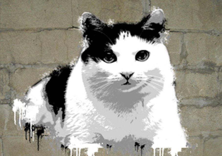 Banksy Cat