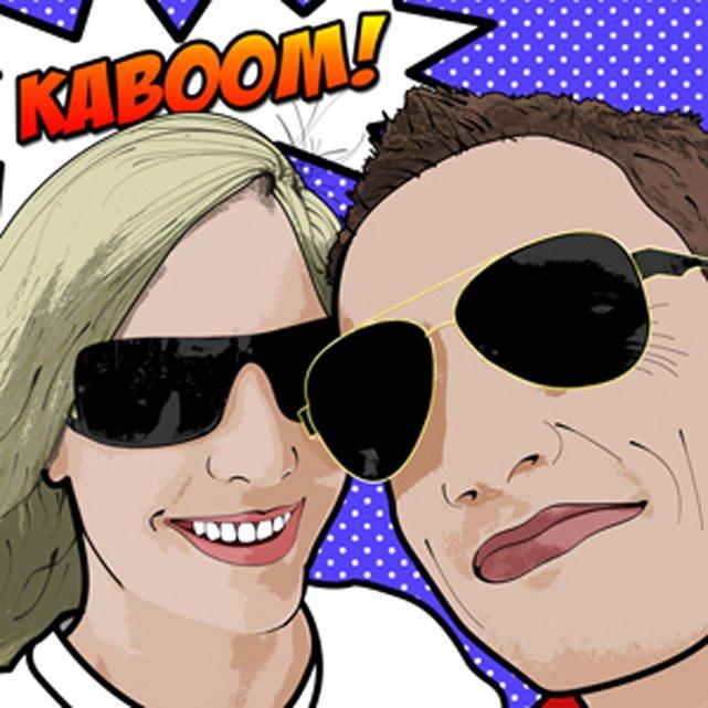 Kaboom Custom Lichtenstein Art
