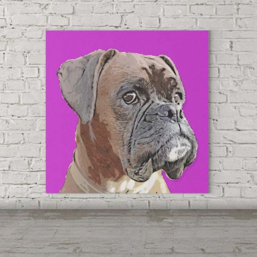 Boxer Dog Pop Art Pet