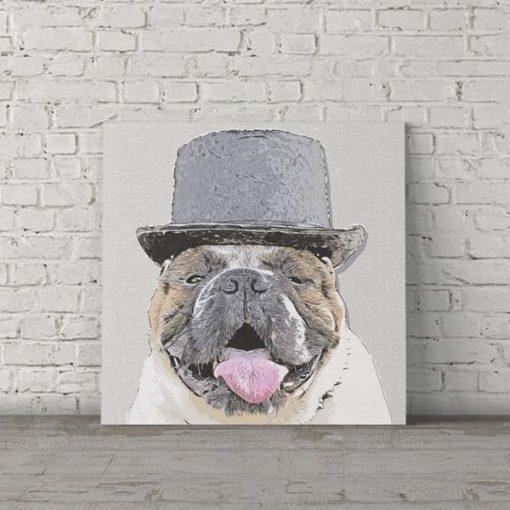 Bulldog Dog Pop Art