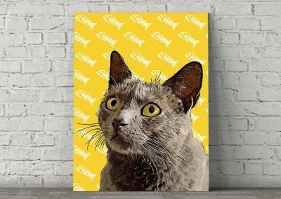 Cat Pop Art Brodie