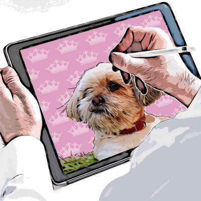 Digital Pet Portraits