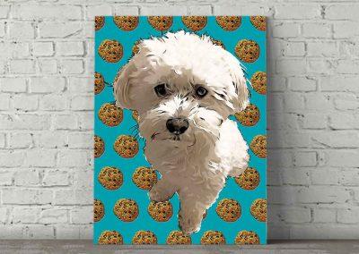 Dog Pop Art Cookie